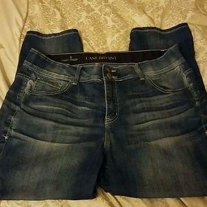 Lane bryant denim cropped jeans